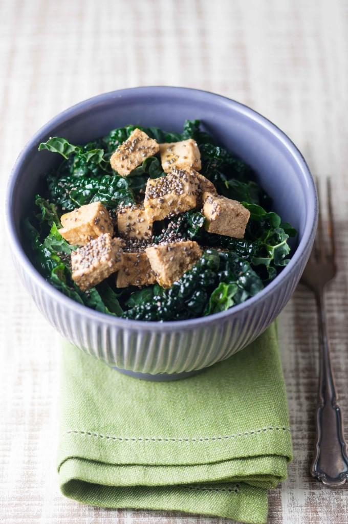 insalata cavolo tofu