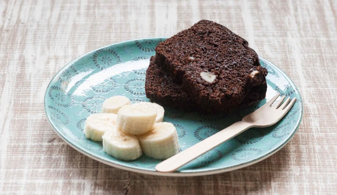 Cake con cioccolato e banana