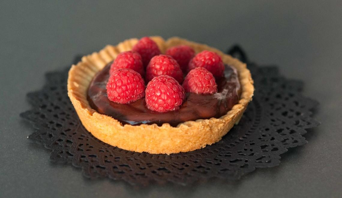tartellette cioccolato lamponi 2