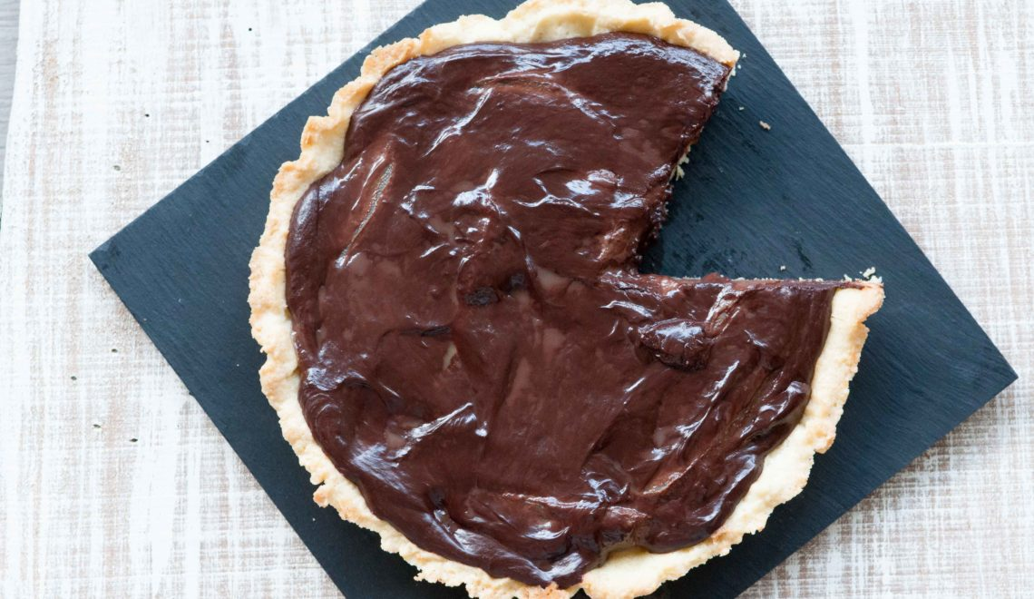 Crostata con pere e ganache di cioccolato
