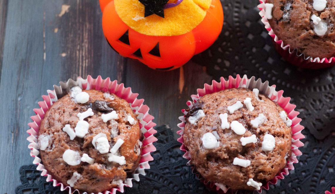 Muffin al doppio cioccolato di Halloween