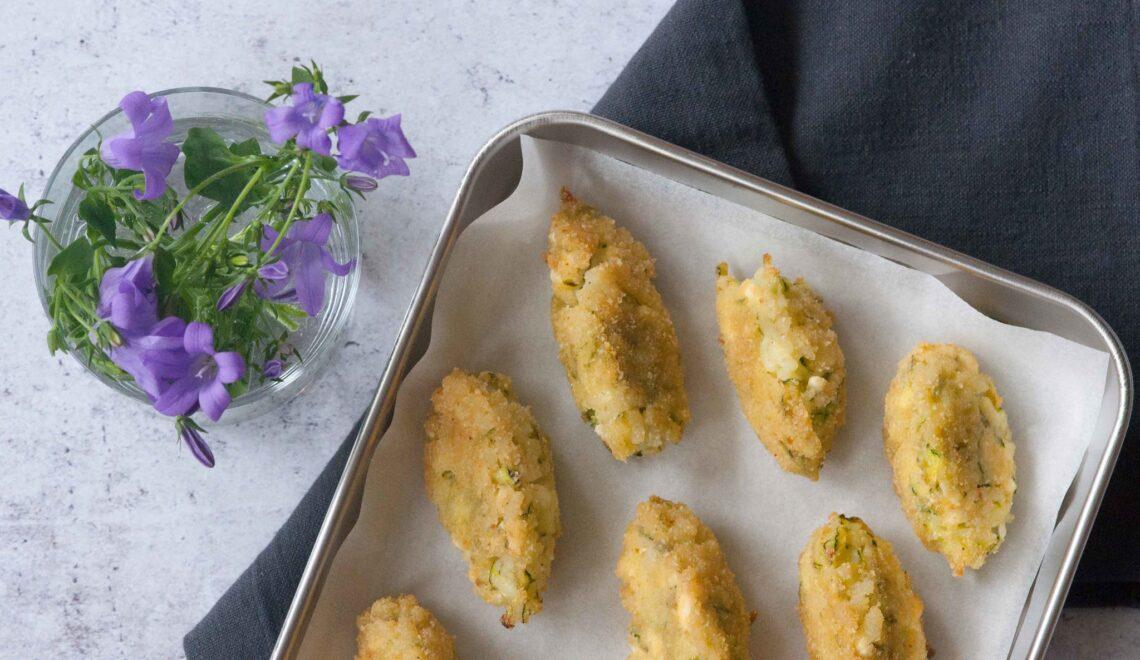 Crocchette di riso con zucchine e feta